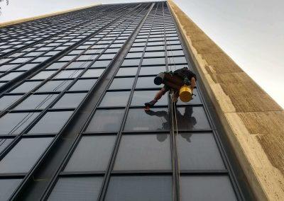 עבודות סנפלינג בגובה רב